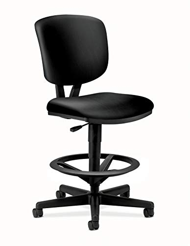 HON Volt Task Stool - Leather Office Stool for Standing...