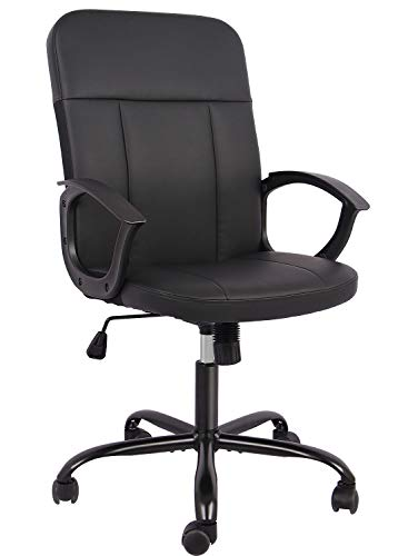 SMUGDESK Office Chair Bonded Leather Home Desk Chair...