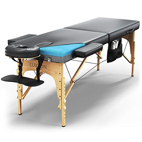 Luxton Home Premium Memory Foam Massage Table - Easy...