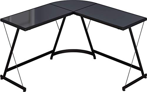 SHW L-Shape Corner Desk Computer Gaming Desk Table,...