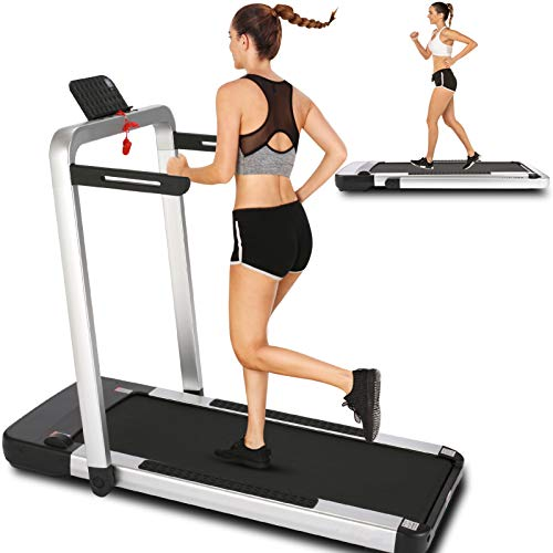 ANCHEER Treadmill,2 in 1 Folding Treadmill for...