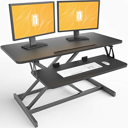 FEZIBO Standing Desk Converter 36 inches Sit Stand Desk...