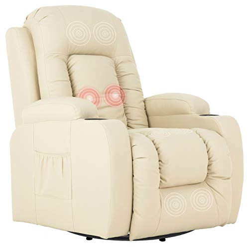 Mecor Massage Recliner Chair PU Leather Rocker with...
