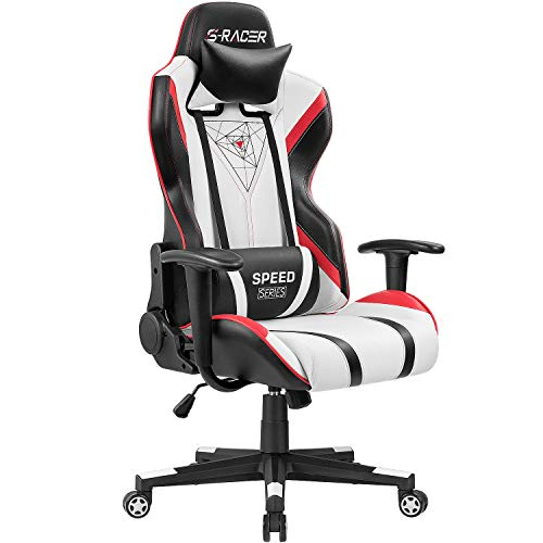 Homall Gaming Chair Racing Office High Back PU Leather...