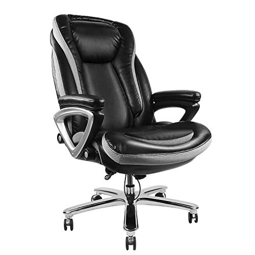 High Back Executive Thick Padding Headrest and Armrest...