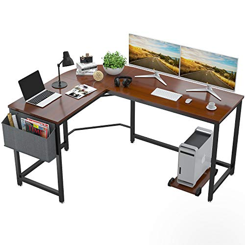 Foxemart L Shaped Desk Corner Desk 58' Computer Gaming...