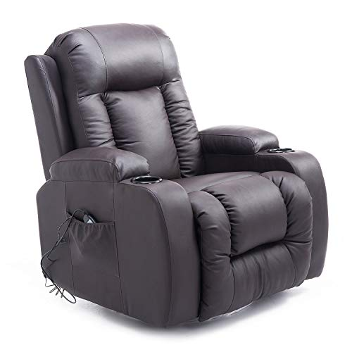 HOMCOM Massage Recliner Chair Heated Vibrating PU...