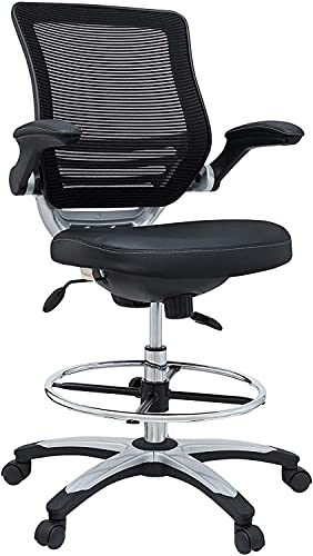 Modway Edge Drafting Chair - Reception Desk Chair -...