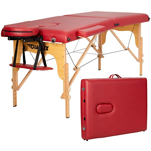 Giantex 84inch Massage Table Massage Spa Bed, Portable...