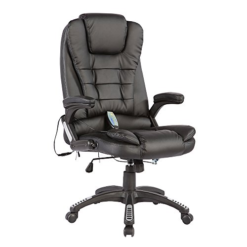 Mecor Heated Office Massage Chair-High-Back PU Leather...