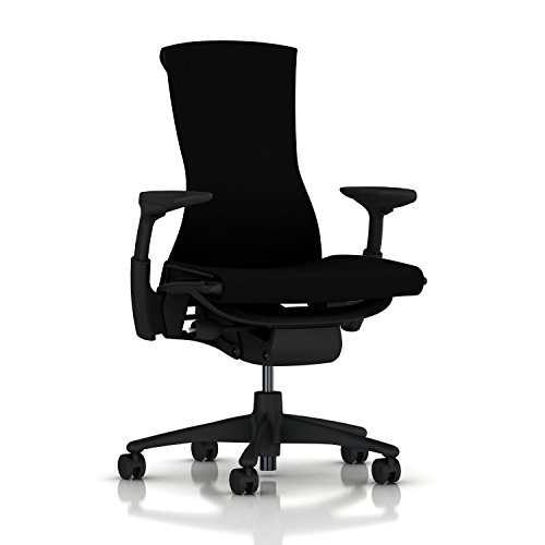 Herman Miller Embody Chair: Fully Adj Arms - Graphite...