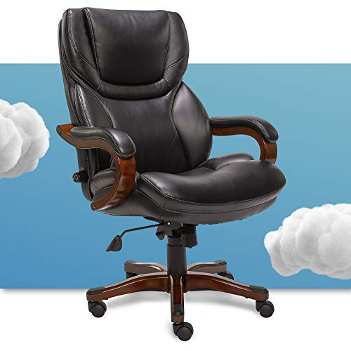 Serta Big and Tall Executive Office Chair with Wood...