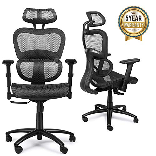 Mysuntown Mid-Back Office Chair, Mesh Task Chair,...