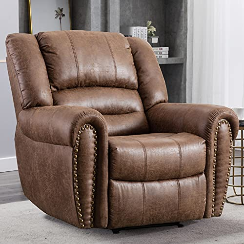 CANMOV Leather Recliner Chair, Classic and Traditional...