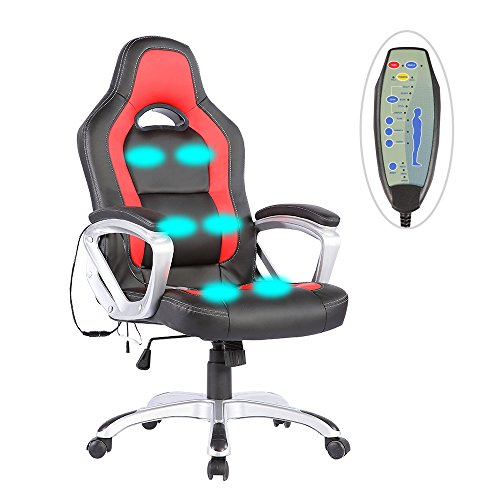 Mecor PU Leather Heated Office Chair-6 Vibration...