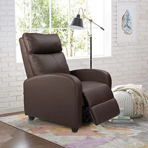 Homall Single Recliner Chair Padded Seat PU Leather...