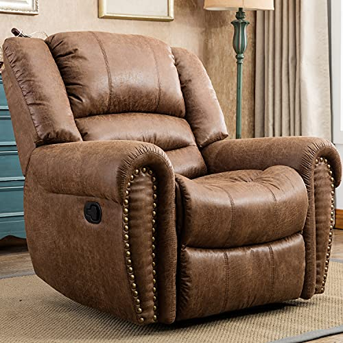 CANMOV Recliner Chair Classic and Traditional Manual...